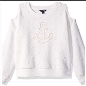 Girls Nautica Cold Shoulder Sweatshirt